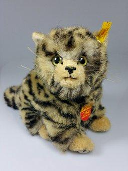 Cat, Teddy Bear, Stuffed Animal, Steiff, Original
