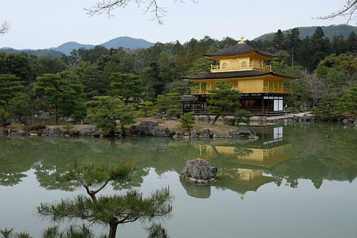 Japan, Kyoto, Temple Of The Golden Pavilion