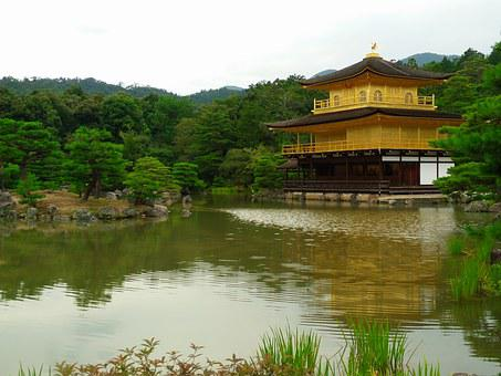 Japan, The Scenery, Temple Of The Golden Pavilion