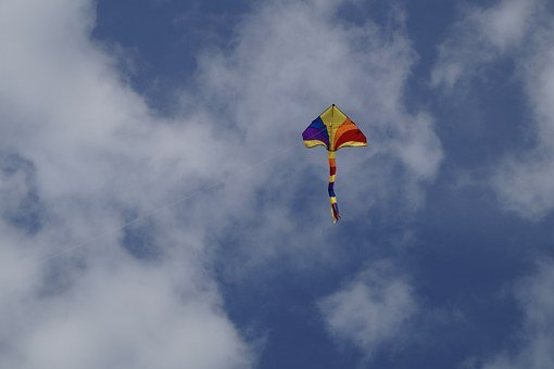 Dragons, Toys, Fly, Sky, Colorful, Blue, Kites Rise