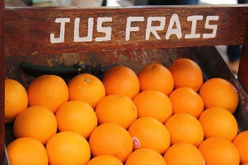 Fresh Juice, Orange, Fruit, Orange Juice