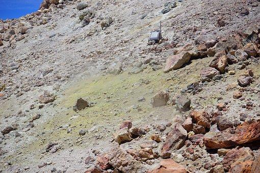 Teide, Crater, Sulfur, Sulfur Vapor, Measuring Station