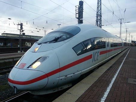 Ice, Train, Railway, Express Train, Railway Station