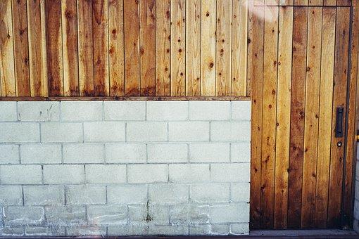 Wall, Wooden, Door, Facade, Old, Rustic, Exterior