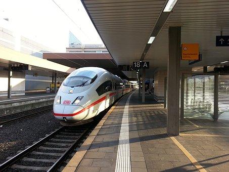 Ice, Train, Railway Station, Rail Traffic, Railway