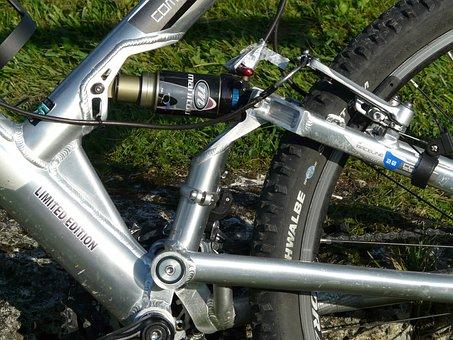 Shock, Bike, Mountain Bike, Wheel, Drive, Suspension