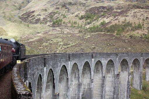 Train, Aqueduct, Jacobite Steam Train, Hogwarts Express