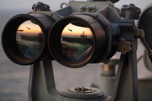 Binoculars, See, Watch, Espionage, Spy, Navy, Recognize