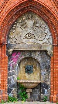 Fountain, Hamburg, St Pauli, Old, Ornament