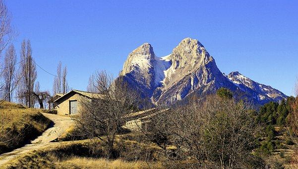 Pedraforca, Mountain, Landscapes, Mount, Sky, Nature