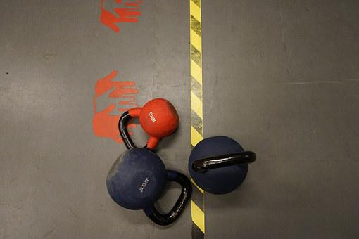 Red, Dumbbells, Training, Silver, Sports, Force