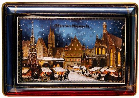 Gingerbread Dose, Box, Lid, Gingerbread, Nuremberg