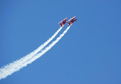 Stunt Plane, Air Show, Aviation, Show, Plane, Sky