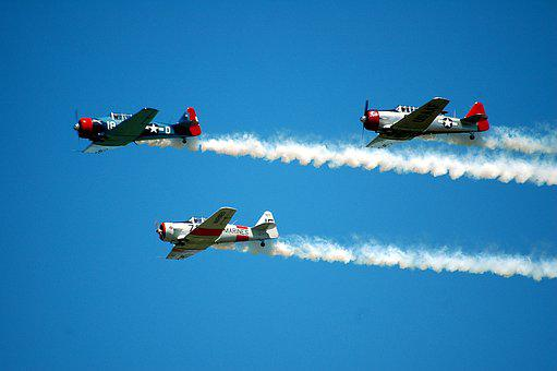 Air Show, Aircraft, Stunt Planes, Show, Sky, Plane