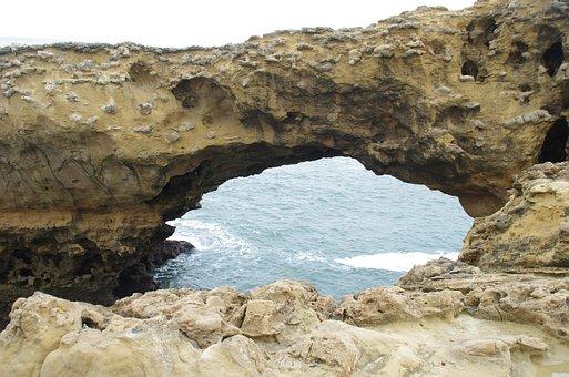 Biarritz, Basque Country, Ark, Roche, Sea, Rocky Coast