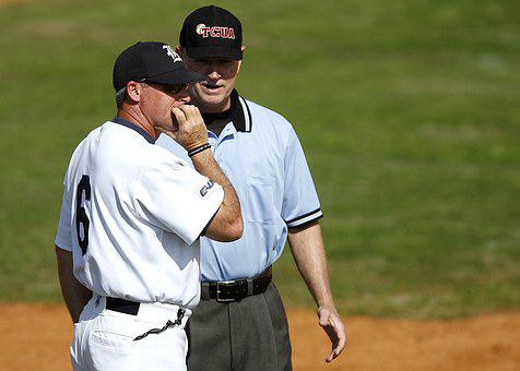 Baseball, Umpire, Coach, Game, Conference, Discussion