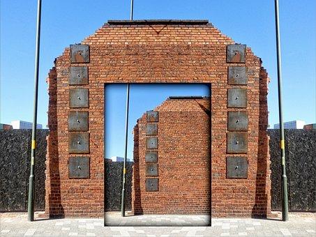 Illusion, Wall, Brick, Shadow, Construction, Inside