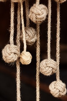 Rope, Knot, Natural, Strong, Bend, Twisted, Node