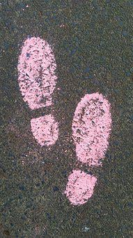 Away, Shoes, Steps, Pink, Asphalt, Road, Walk, Go