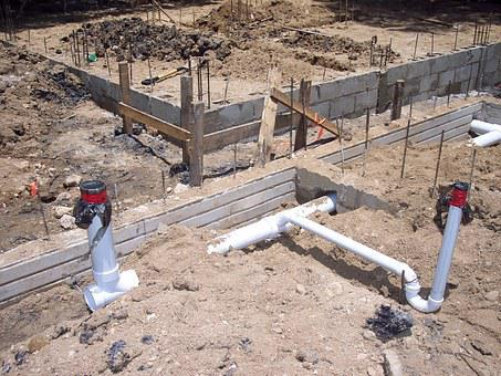 Plumbing, Cement, Foundation, Building, Construction