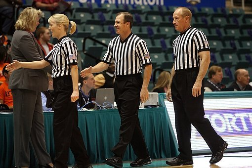 Basketball Officials, Referees, Game, Authority