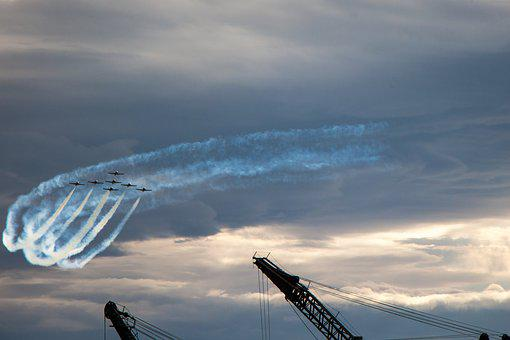 Precision, Flying, Snowbirds, Canada, Airshow, Edmonton