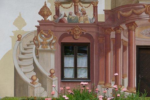 Lüftlmalerei, Poppy, Lueftelmalerei, Southern Germany