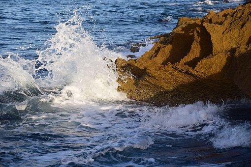 Rock, Sea, Water, Stone, Nature, Coast, Rocky, Booked