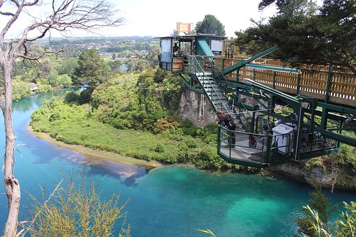 Taupo, New Zealand, North Island, Bungee Jumping
