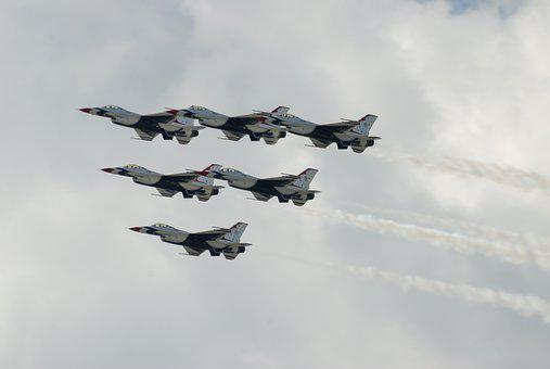 Air Force, Thunder Birds, Air Show, F-16, Jets