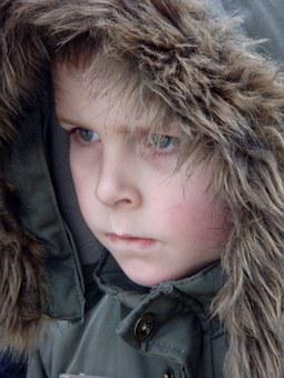 Boy, Hat, Fur Edge, Winter, Child, Tough, Watch, Focus