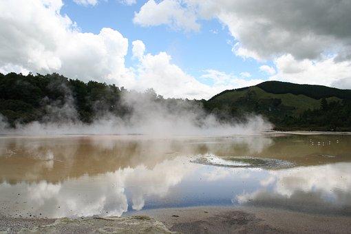 New Zealand, Rotorua, Zealand, Landscape, Geothermal