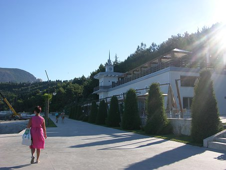 Summer, In The Morning, Woman, Crimea, Sunny, Blue Sky