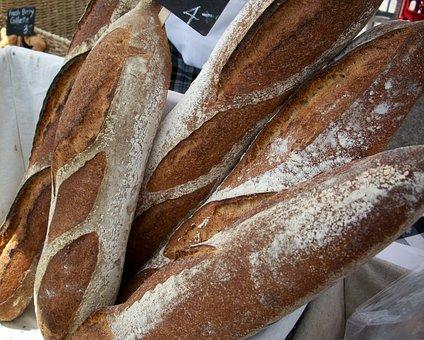 Baguette, Bread, French, Artisan, Fresh, Bakery, Brown
