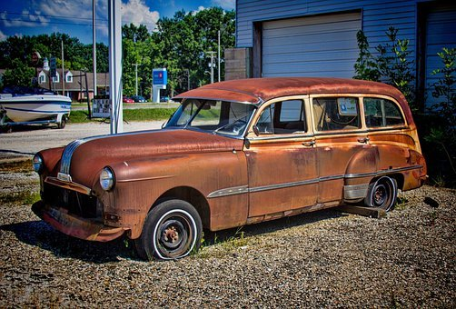 Car, Rusty, Rusted, Decay, Abandoned, Vintage, Auto