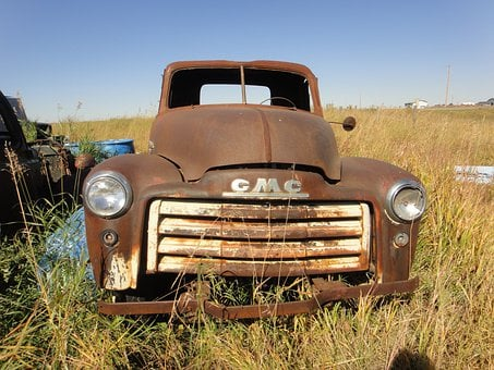 Abandoned, Truck, Prairie, Old Truck, Rusted, Old