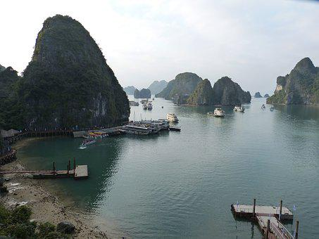 Vietnam, Halong, Halong Bay, Sea, Nature, Landscape
