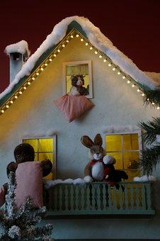 Winter, Home, Illuminated, Lighting, Christmas