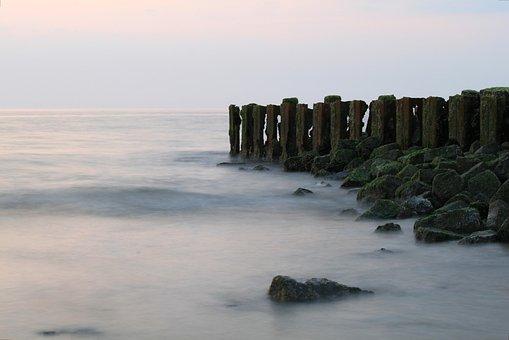 Sea, Beach, Wave, North Sea, Abendstimmung, Nature, Sky