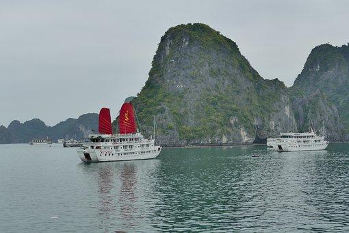 Vietnam, Halong, Halong Bay, Sea, Nature, Landscape