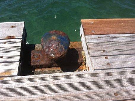 Dock, Bollard, Port, Mooring, Rusty, Pier, Wharf, Sea