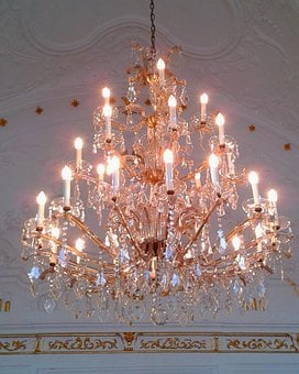 Chandelier, Lamp, Lighting, Bulbs, Light, Crystal Glass