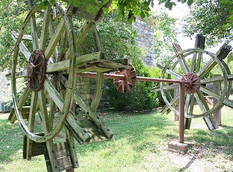 Paddle Wheel, Wheel, Boat, Riverboat, Gear, Wooden