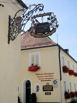 Kelheim, Niederbayern, Brewery, Brewery Sign, Inn
