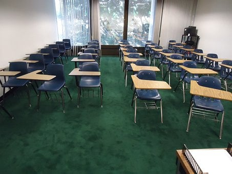 Class, Classroom, Tables, Chairs, Empty, Chair