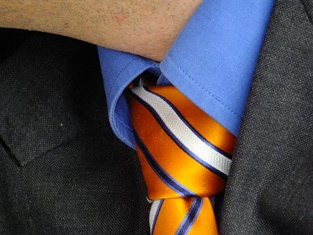 Tie, Festive, Striped, Man, Neck
