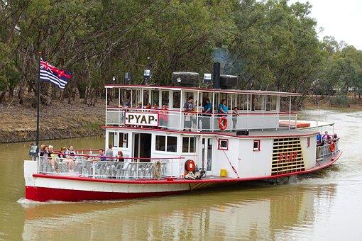 Paddle Steamer, Paddle Boat, River Boat, Steamer
