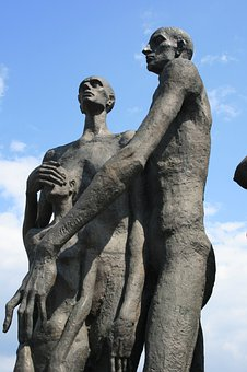 Statues, Holocaust Victims, People, Suffering, Tragic