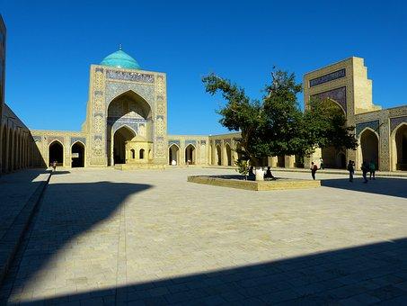 Bukhara, Mosque, Kalon Mosque Islam, Courtyard, Dome