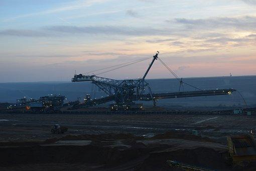 Excavators, Riesen, Open Pit Mining, Overburden